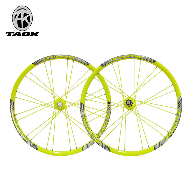 26 inch luminous bicycle wheel mountain bike mtb wheels aluminium alloy wheel set 1pair