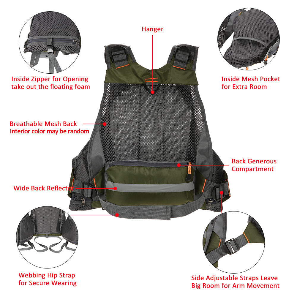 Outdoor Sport Fishing Life Vest  (16)