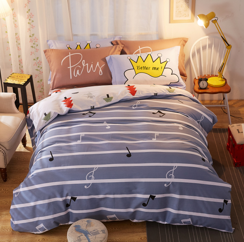 3/4pcs 100%Cotton 26 styles cartoon Bedding set comfortable soft Duvet Cover set Bedsheet Pillowcases Twin Queen King Size