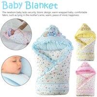 Baby Hug Blanket Newborn Baby Cute Soft Cotton Sleeping Bag Windproof Hat Supplies Spring Winter No Fluorescent Agent