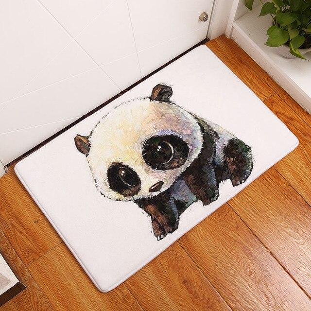 Monily impermeabile porta zerbino cartone animato panda orso leone