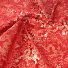 Chinese Jacquard Tapestry Brocade Fabric,1Meter,Width75CM,Dragon Pattern Tissue Fabric Diy Dress Sewing Accessories