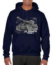 2019 New Mens Tiger Tank Honour German Reich Army Fun Cult Soldier Round Neck Man Hoodies Sweatshirts