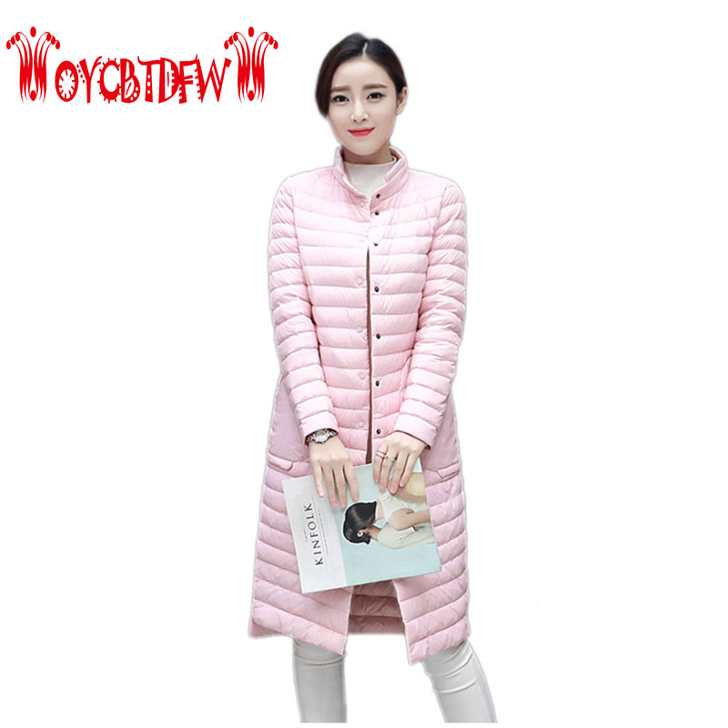 Women Cotton Coat Winter New Mid-long Section Stand Collar Thin Section Single-breasted Fashion Slim Down Cotton Coat Ly0243 free shipping boruoss 2015 new fashion winter cotton coat women short single breasted coat boruoss w1292