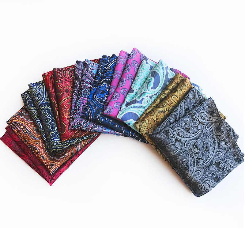 新デザインポリエステルハンカチゴールド & 黒ペイズリー男性ファッションチェック柄ポケット正方形ハンカチ男性のスーツのネクタイハンカチ