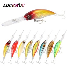hot NEW 9.5cm 8g Minnow Fishing lure swing small Dive Hard bait deep diving lures High Quality vibration japan pesca crankbait