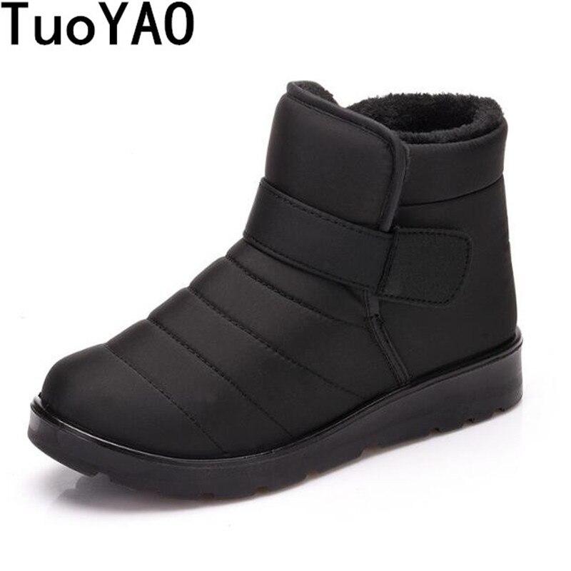Men Boots Footwear Work-Shoes Ankle Waterproof Winter New-Fashion Keep-Warm Fur Outdoor