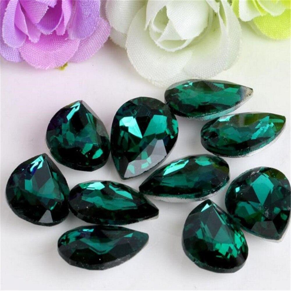 Couleur De L Emeraude €1.85 26% de réduction|décoration décorative en cristal, strass en cristal  de pointage ample, bricolage de couleur vert émeraude, strass en cristal