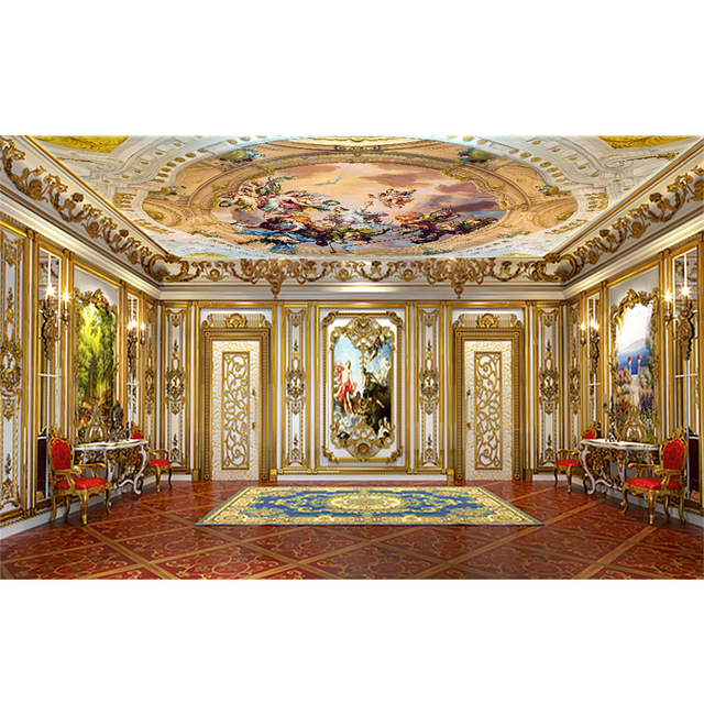 European Luxury Angel Painting Ceiling Wallpaper Wall Sticker Living Room Bedroom For Walls Decor Papel De Parede Fashion 269