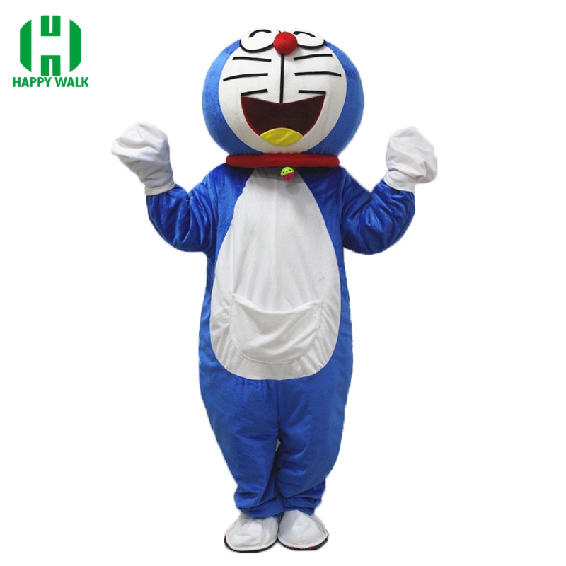 Super High Quality Adult Doraemon Mascot Costume Robocat Mascot Costume Doraemon Fancy Cosplay Dress Costumes