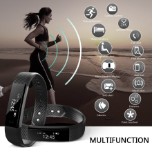Smart Fitness Bracelet ID115 Sport Watch Passometer Tracker Alarm Clock Vibration Bluetooth Wristband for Android IOS