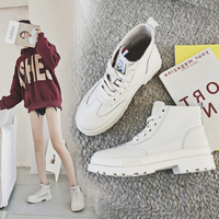 MYCORON ботильоны на платформе Удобная обувь зимняя женская обувь на толстой подошве на шнуровке женская обувь Водонепроницаемый Мартинсы жен