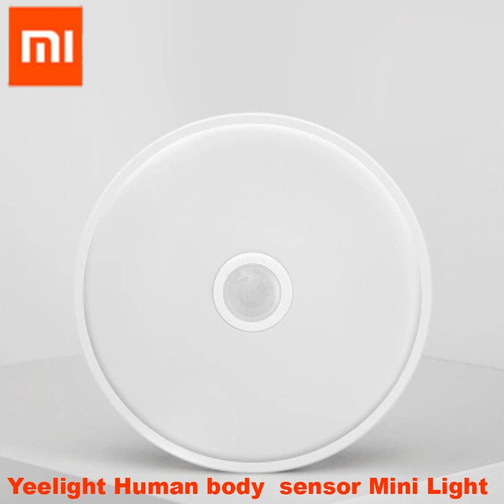 100% Xiaomi Mijia Yeelight Human body Motion sensor Mini Ceiling Light Sensing Night Lights for Corridor,aisle,porch original xiaomi yeelight mini ceiling lamp mini led human body motion light dual sensor night lights for corridor aisle porch