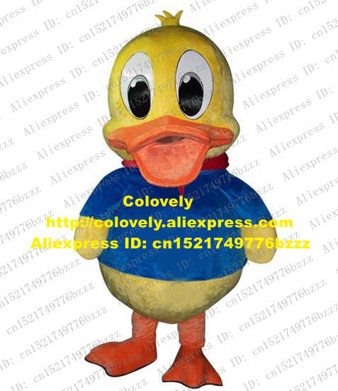 Indah Kuning Bebek Maskot Kostum Mascotte Duckling Quackquack Mati Ente Dewasa dengan Mulut Besar Mata Hitam Besar No 4011 Gratis kapal