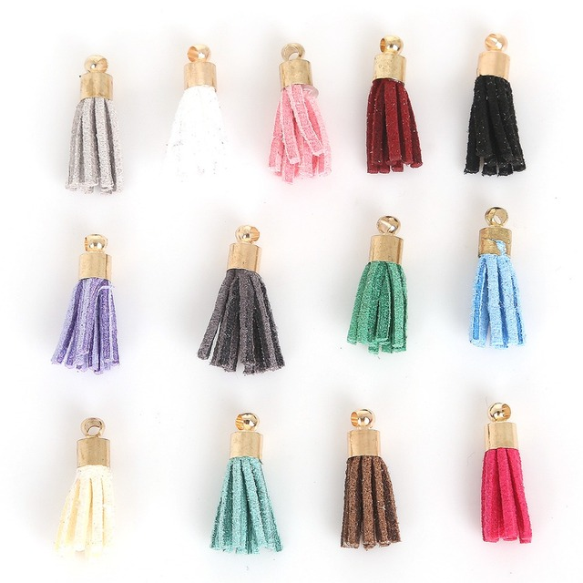 10Pcs Vintage Suede Tassels Hanging Curtains For Phone Craft Handmade Pendant Earring Necklace Keychain DIY Jewelry Accessories
