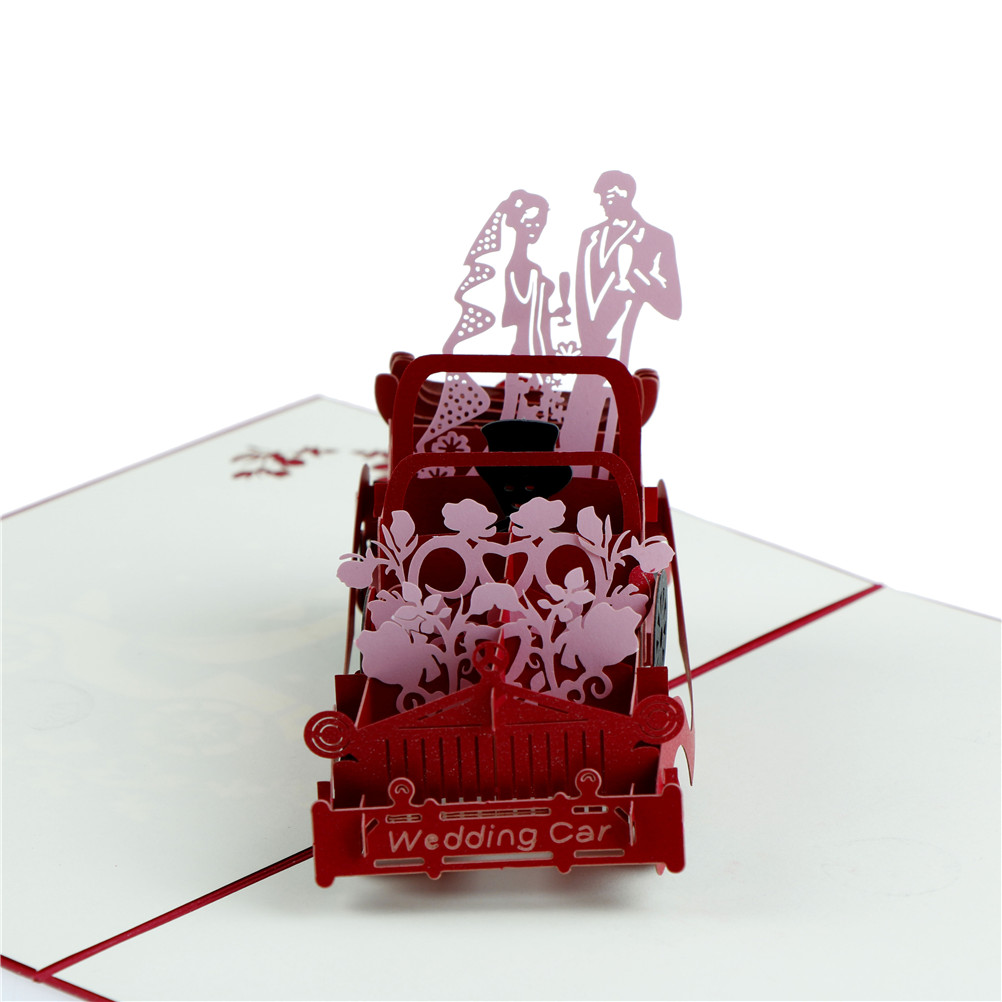 13*20cm Diy Red 3D Personalized Anniversary Wedding Carriage Lovers ...