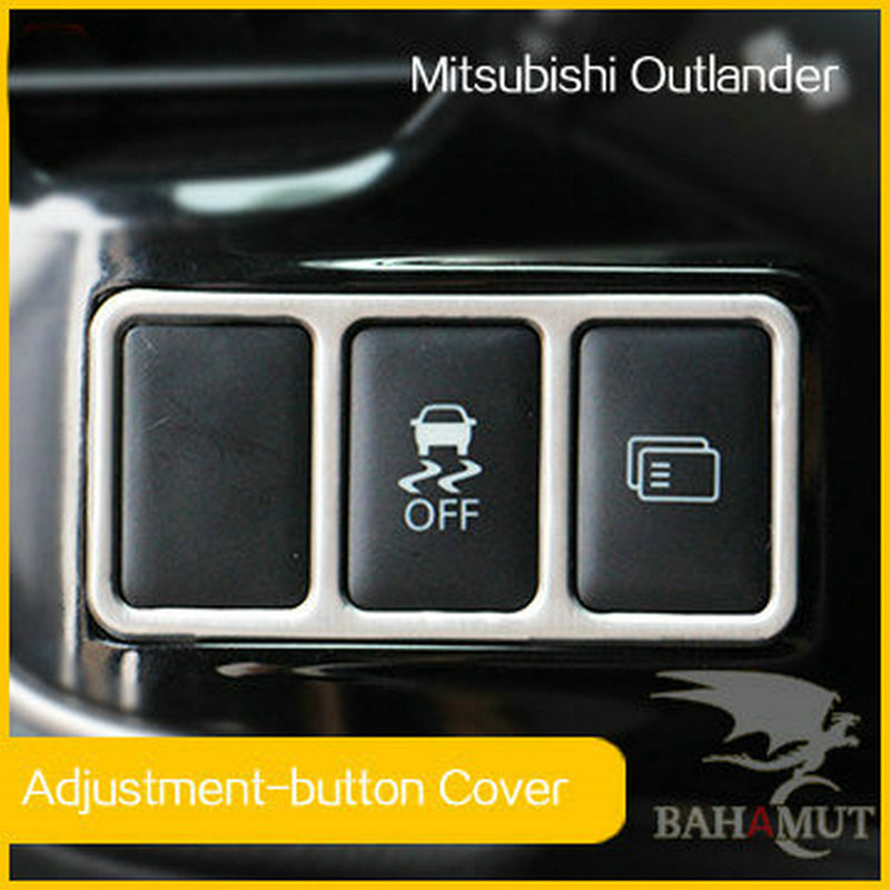 Stainless steel Multifunction button decorative stickers cover car styling Auto Accessories for Mitsubishi Outlander 2013 2014