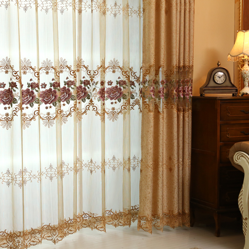 Aliexpress.com : Buy Custom Made European Royal Luxury Curtains For Living  Room Embroidered Voile Curtains For The Bedroom Luxury Window Curtains From  ... Part 3