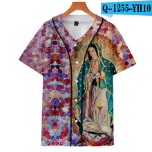 a5e808a53bd 3D Frida Kahlo Our Lady of Guadalupe Baseball T Shirt Vogue Harajuku  Fashion Men Women Streetwear Tee Shirt Sweat Hip Pop Tops