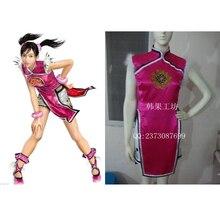 На заказ Tekken Косплей Лин Xiaoyu костюм Ципао