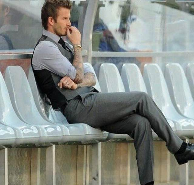 Grey Slim Fit Dress Vests For Men David Beckham Formal Mens Suit Wedding Sleeveless Blazer Fashion Vest