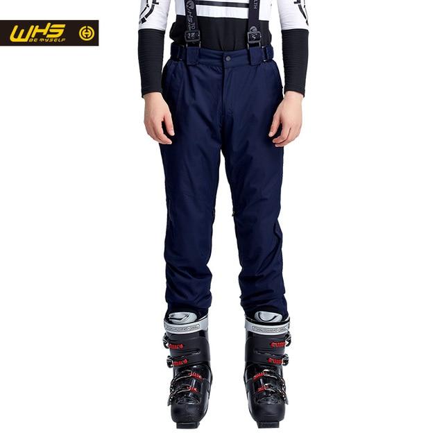 WHS новый Мужчины лыжные брюки брендов Открытый Теплый Сноуборд брюки мужской водонепроницаемый брюк спорт отдых брюки зима лыжные штаны ветрозащитный