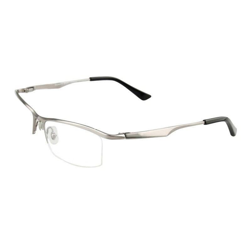 men fashion titanium alloy eyeglasses frame designer brand glasses optical semi rimless prescription spectacles eyewear