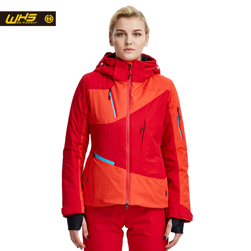 WHS New Women Skijacken Damen Marken winddicht warme Mantel weibliche wasserdichte Schneejacke Frau Outdoor-Sportkleidung Winter