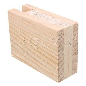 Image 4 - BQLZR 10x5x13.2cm עץ שולחן שולחן מיטת רצועות מעלית מתאמן ריהוט אחסון עבור 2CM חריץ רגליים עד 10CM מעלית חבילה של 4
