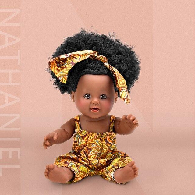 hair popcorn black fashion baby dolls lol reborn silicone vinyl