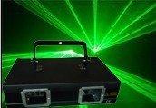 free shipping--2 Head Green Step Laser lights G/30mW*2 Laser wavelength G:532nm (BS9-5006)