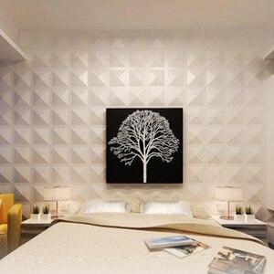 Image 5 - Yazi Stampi di Plastica Forme 3D Decorativi Pannelli di Parete Murales Carta Da Parati per Soggiorno dimensioni 300*300*1.5 millimetri