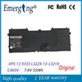 7 4 В 55Wh новый оригинальный аккумулятор для ноутбука DELL XPS 13 9333 L322X 13-L321X C4K9V L221x 9Q33