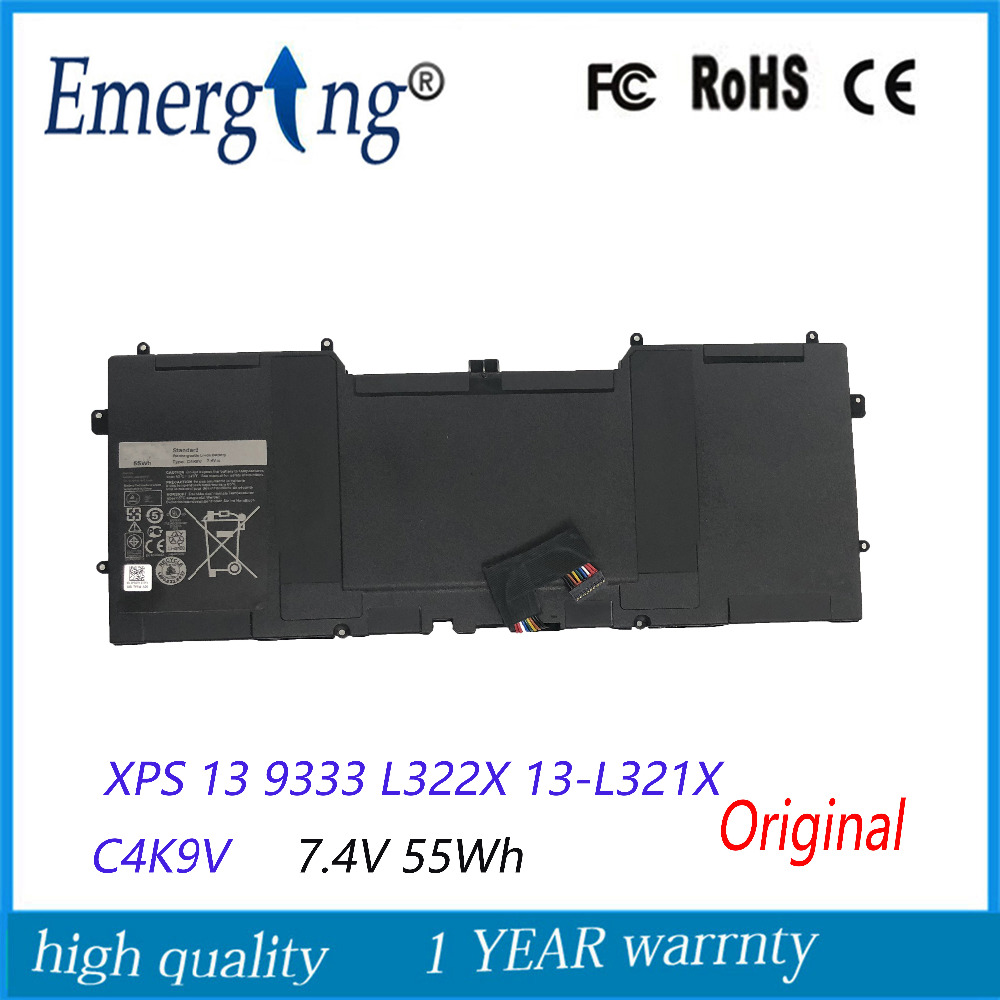 7.4V 55Wh New  Original   Laptop Battery For DELL XPS 13 9333 L322X 13-L321X C4K9V L221x 9Q33