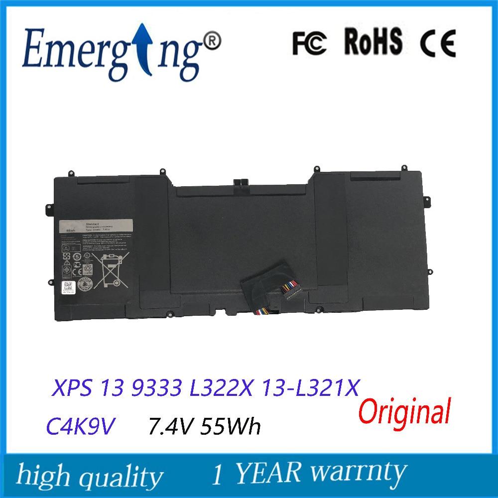 7.4V 55Wh New Original Laptop Battery for DELL XPS 13 9333 L322X 13-L321X C4K9V L221x 9Q33 цены онлайн