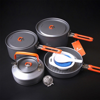 4 5 Person Camping Pot Set Outdoor Team Picnic Cooking Aluminum Cookware Sets Fire Maple Feast