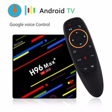 H96 Max plus + Android 8.1 TV Box RK3328 4GB 32GB 1080P H.265 4K 3D WiFi HDR10 Google voice control youtube Smart Android TV BOX