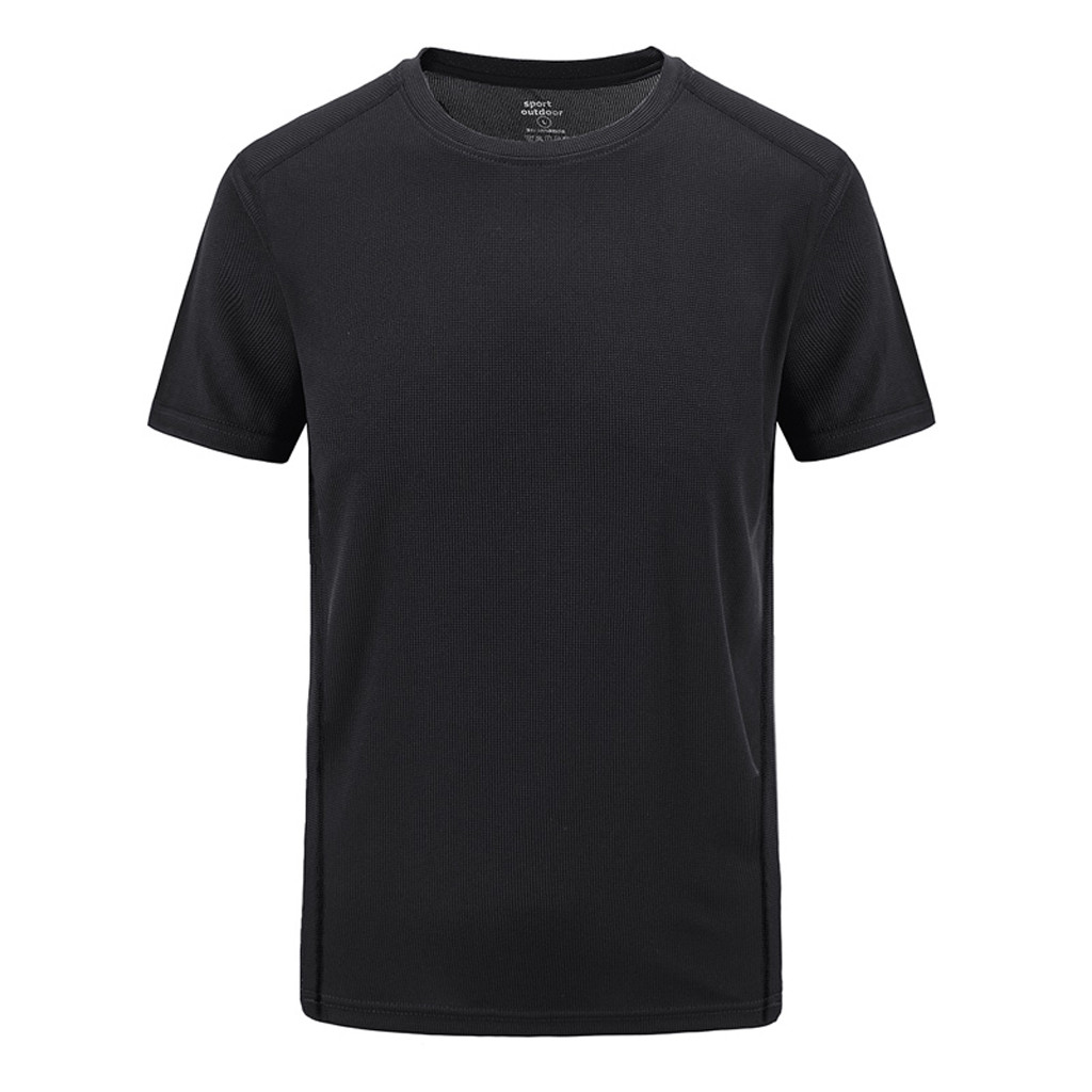 L-8xl 2019 New Men's Summer Casual Outdoor T-shirt Short Sleeve Plus Size Sport Fast-dry Breathable Tops Blouse Tshirt Men