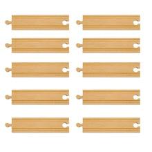 10pcs lot Best Baby Companion font b Toy b font Wooden Tomas Railway Train slot Standard