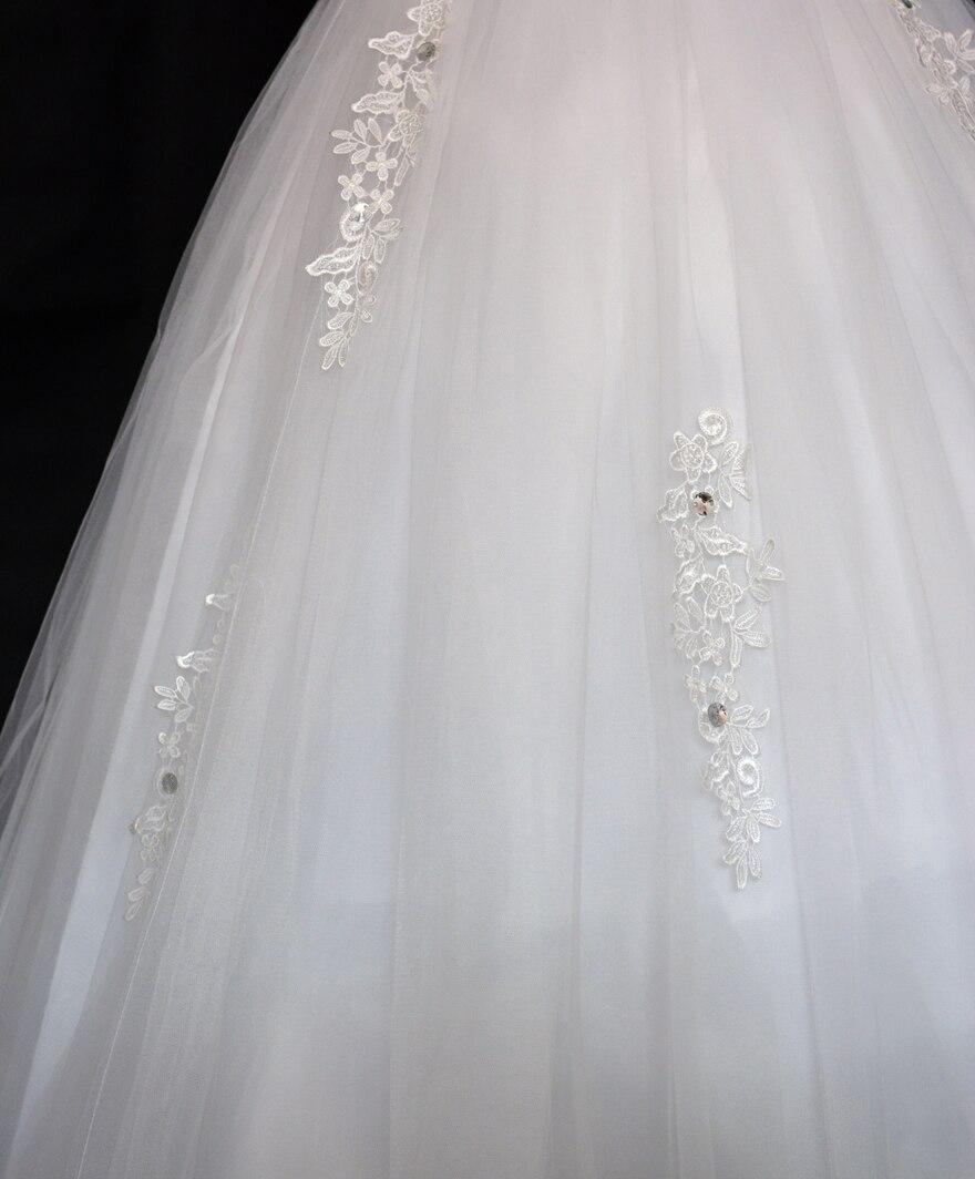 0235e784ed5e9 ⑧جديد العروس تزوج 2018 نصف كم الرباط موجز زائد حجم فستان الزفاف - w705
