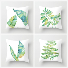 Fuwatacchi Plant Flower Painting Cushion Cover Flamingo Leaves Pillow for Home Sofa Chair Decorative Pillows 45*45cm