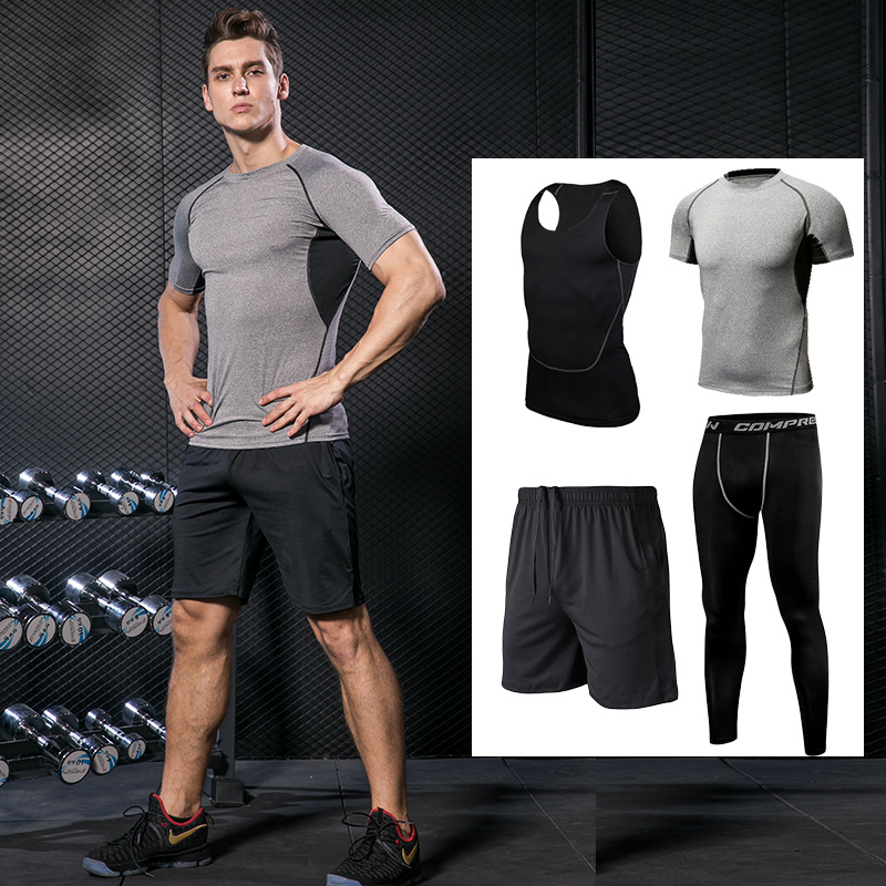 Generous Summer Sports Suits Mens Running Sleeveless Vest+shorts Set Fitness Sportswear Basketball Training Jogging Gym Sports Clothes Running