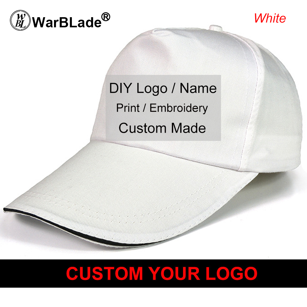 5125dc1c619 Custom Baseball Cap Top Quality Dad Caps Personalized LOGO Embroidery Hat 6 Colors  Adjustable Adult Gorras Wholesale-in Baseball Caps from Apparel ...