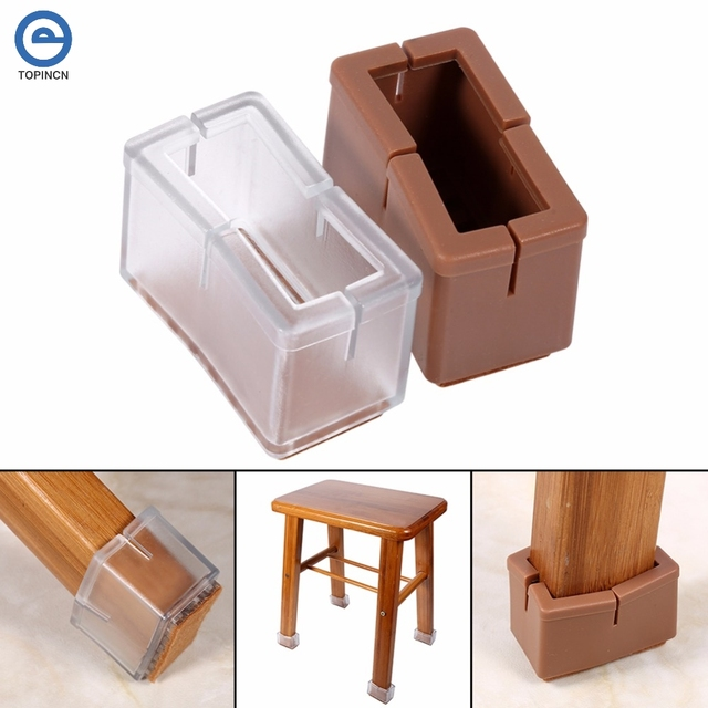 Pieds De Chaise Couverture Avec Semelle En Caoutchouc Couvre Rectangle PVC Meubles Protecteur