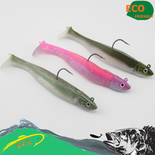 Fishing lure kits vs black minnow lures Jig head soft lure 9 cm paddle tail with 14g jig head #H1601-110