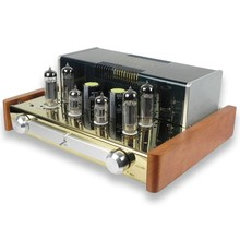 YAQIN MC-84L Integrated vacuum tube amplifier SRPP circuit 6P14*4 Class AB1 tube headphone earphone amplifier 2*12W 110V/220V