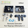 10 Conjunto Extrusora Para Ultimaker Reprap 2 Suporte Remoto 1.75 3mm Filament Para 3D Printer Parts