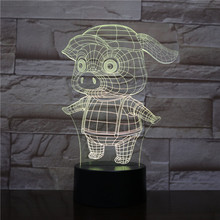 Night Light LED Cute Pig Cartoon Decoration Color Changing Touch Sensor Children Kids Gadget Gift Pig Table Lamp Bedroom Lampara cute sleeping piglet led night light table lamp creative resin pig crafts children birthday girl s friends gifts home decoration