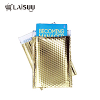 5pcs 6*9inch/18*23cm Multiple Colour Aluminized Bubble  Mailers Self Seal Golden Padded Envelopes Clothing Mailing Bags