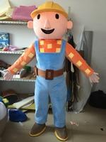 Adult Bob the Builder mascot costume Bob the Buildermascot costume Bob the Builder Costume